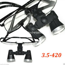Dentist Dental Surgical Medical Binocular metal Loupes 3.5X 420mm Optical Glass