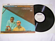 LP - Nat King Cole sings George Shearing - Promo 1962 White Label # cleaned
