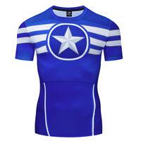 3D Mens T-shirt Captain America Thor 3D Printed Fashion Tops Slim Fit sweatshirt