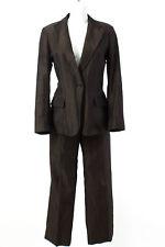 Max Mara Hosenanzug Gr. 40 / L Baumwolle-Leinen-Mix Blazer Hose Business Suit