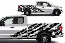 Vinyl Decal Graphics Wrap Kit for 15-17 Ford F-150 Shred BLACK SuperCab 6.5 Bed