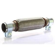 Edelstahl Flexrohr Auspuff 45 x 200 mm + 2 Schellen Flexstück Set ohne Schweißen