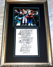 PEARL JAM HAND SIGNED FRAMED PHOTO X5 + HAND WRITTEN 2003 SETLIST! RARE W/ PROOF