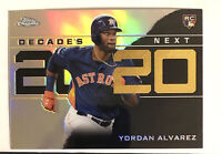 2020 Topps Chrome Update Yordan Alvarez Rookie Card RC Decades Next 2020 Fresh!