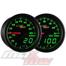 Black MaxTow Digital/Analog 60PSI Diesel Boost + 2200° F EGT Pyrometer Gauge Set