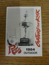 1984 Fixture Card: Soccer - Tulsa Roughnecks (single fold style). Any faults wit