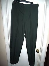 DSCP Tennessee Apparel Mens Army Green Trousers Poly Wool Blend Size 34L Pants