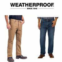 Weatherproof Vintage 1948 Fleece Lined Men's Jeans Multiple Sizes