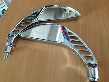 PAIRE DE RÉTROVISEURS ( MOD-BLEU ) CHROME LOOK CUSTOM / CHOPPERS ............