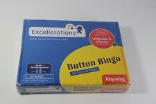 Excellerations Button Bingo Language & Literacy Education Learning Game Rhyming