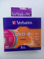 LOTE DVD-R 4.7GB 120min 16x VERBATIM,TDK,INTENSO