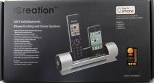 iCreation i-800 DECT with Bluetooth, iPhone Docking and Stereo Speakers SILVER