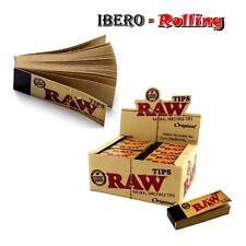 Filtros RAW TIPS Cartón. Caja de 50 libritos de filtros de cartón. Filtros fumar
