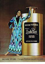 PUBLICITE ADVERTISING 044   1975   EMILIO PUCCI  parfum pour homme VIVARA