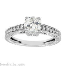 WHITE TOPAZ AND DIAMOND ENGAGEMENT RING 14K WHITE GOLD 1.00 CARAT CERTIFIED