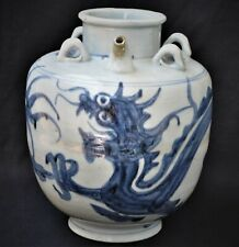 18TH CENTURY 1736 QIANLONG ANTIQUE CHINESE PORCELAIN DRAGON POT VASE