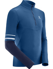 Salomon Men's S/RACE Jersey Running Midlayer Running Shirt Poseidon-Night Sky