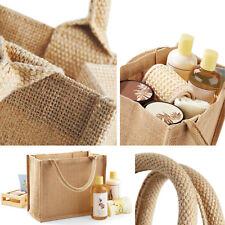 3b143015426 Mini Jute Bag Plain Tote Natural Shopper Eco Reusable Shopping 6 Colours