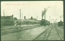 1908 RPPC POSTCARD CHICAGO & NORTH WESTERN RR DEPOT TAMA, IOWA Steam Locomotive