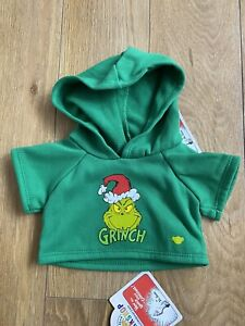 Build A Bear Workshop The Grinch Hoodie Brand New With Tags