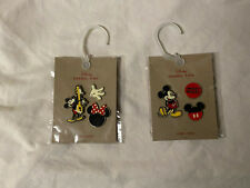 Lot of 2 Disney Mickey Mouse Enamel Pin Sets By Junk Food