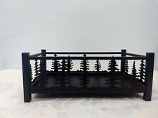 PartyLite Black Forest Friends Candle Holder Metal Shaped Pine Trees Retired