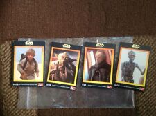star wars episode one KFC cards , rare four cards of 20 .