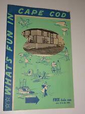 1941 Souvenir Booklet What's Fun In Cape Cod, MA