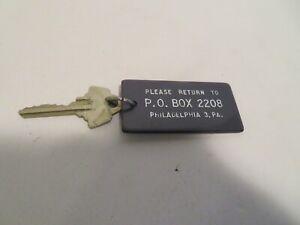 Vintage  Motel Room Key and fob- BLACK PO BOX 2208 PHILADELPHIA PA  RM 2010  OLD