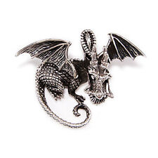 Brave Heart Dragon 925 Sterling Silver Medieval Gothic Biker Pendant bub-057