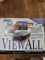 Vintage 1997 Zenith View All PC/Mac to TV Link Up PCZ150 New In Box With Manual