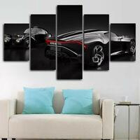 Bugatti La Voiture Noire Evolution 5 Panel Canvas Print Wall Art Home Decor