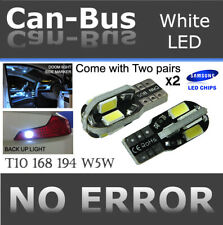 4x pc T10 168 194 Samsung 8 LED Chips Canbus White Plugin Step Light Lamps F909