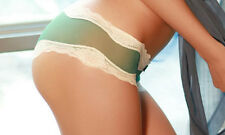 New Green Seamless Mens Womens Sheer Unisex Thin Pantyhose Underwear Boxer Lace