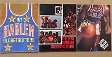 Lot of 3 Vintage 1972-78 Harlem Globetrotters 'Game Day' Programs Magazine NBA
