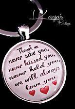 925 Silver Plt Miscarriage *Memorial* Baby Loss Keyring Pendant *Keepsake Gift*