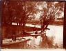 France, Nogent-sur-Marne, promenade en barques Vintage print Tirage citrate