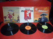 THE SOUND OF MUSIC - OKLAHOMA - FUNNY GIRL - SOUNDTRACKS 33rpm RECORDS VGC