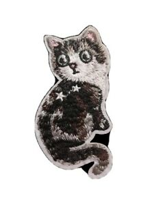 Cat Embroidery patch iron on applique motif 97x45mm H12 sew on