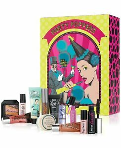 BENEFIT Cosmetics PARTY POPPERS 12 Days of Gorgeous/TRAVEL SIZES Sealed in Box!