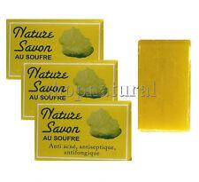 JABON DE AZUFRE x3 ANTISEPTICO ANTI-ACNE PURIFICANTE SULFUR SOAP SAVON AU SOUFRE