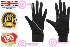 Black Gloves Karrimor Mens Womens Running Run Sports wind/waterproof XS-XL UK
