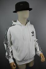 Adidas Originals  Mens Tracksuit Top White jacket with black stripes Size M