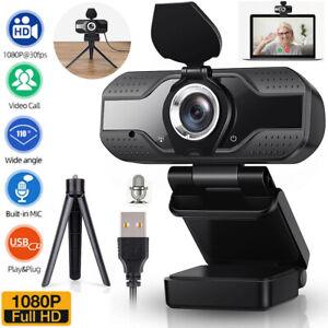 Full HD 1080P Webcam Autofocus USB Camera with Microphone PC Desktop Laptop UK