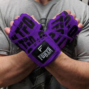 """Forza Sports 180"""" Mexican Style Boxing and MMA Handwraps - KTFO Purple"""