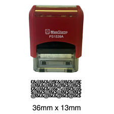 PROTECT ID STAMP - Self Inking Stamp 36 x 13mm - keep your personal data safe