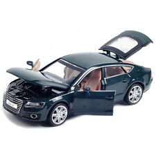 Audi A7 1:32 Metal Diecast Model Car Toy Sound&Light Pull Back Power Gift Blue