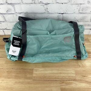 Herschel Supply Co. Ultralight Duffle Bag Packable Convertible 30L Eggshell Blue