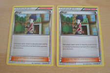 Pokemon TCG: 2x Hugh Supporter Cards. Black & White Boundaries Crossed