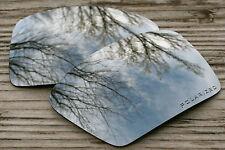 Polarized Silver Mirrored Sunglass Lenses for Oakley Eyepatch 2 - Dark Grey Tint